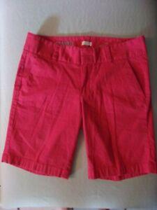 Size 2 J. CREW Stretch Frankie Brick Red Bermuda Shorts-EUC