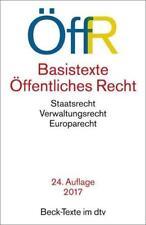 Basistexte Öffentliches Recht (ÖffR) (2017, Taschenbuch)