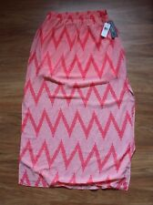NWT Women's A.BYER Chevron pink and white Maxi skirt Semi sheer size M