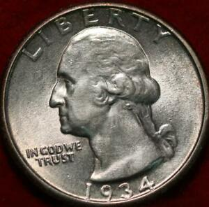 Uncirculated 1934 Phildelphia Mint Silver Washington Quarter