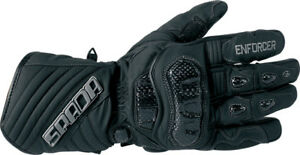 Spada Enforcer WP Waterproof Thermal Motorcycle Gloves Black Ride Recommended