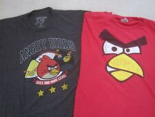 Lot of 2 vintage Angry Birds shirts (Red size 2X, Black size XL)