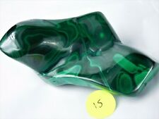 15M) Green Polished Banded Malachite Crystal / Mineral Congo Copper