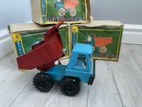 USSR SOVIET TIN TOY Car Dump truck VINTAGE RARE EARLY Metal Toy 1960s