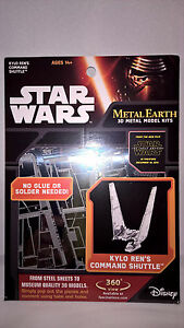Metal Earth Kylo Ren Command Shuttle Star Wars EP7 Authentic 3D Model Kit - NEW