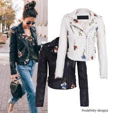 Casual Regular Size Punk Coats, Jackets & Vests for Women