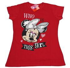 Disney Mädchen T-Shirt, Minnie Mouse, Micky Maus, Größe 152/158, rot, UVP 22,90