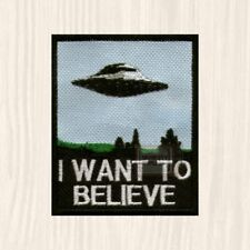 The X-Files Ufo Patch Tv Series I Want to Believe Mulder Scully Film Embroidered