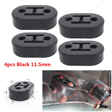 4Pcs 2Hole 11.5mm Car Rubber Exhaust Tail Pipe Mount Brackets Hanger Insulator