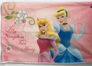DISNEY PRINCESSES CINDERELLA,AURORA-PILLOWCASE-ONCE UPON A TIME-Bed Pillow Gift