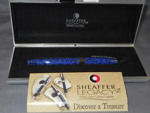 Sheaffer Vintage White Dot Legacy II Rollerball Pen-blue