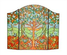 Fireplace Screen Tree Of Hope Tiffany Style Stained Glass 44 x 35 One This Price