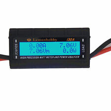 High Precision LCD RC Watt Meter Tester and Power Analyzer 130 Amps G.T. Power