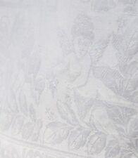 Jugendstil Damast Tafeltuch 170 x 122 Engel Maiglöckchen Schmetterlinge Putten