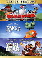 Barnyard / Rango / Yogi Bear (DVD, 2014, 3-Disc Set) - NEW!!
