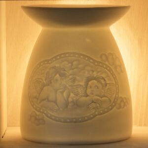 Oil/Fragrance Burner ~ Nordic Lights ~ ANGEL (31) ~ Ceramic/Porcelain