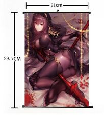 """Hot Anime Fate Grand Order Scathach Poster Wall Scroll Home Decor 8""""×12"""" FL881"""