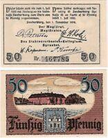 Germany 50 Pfennig 1919 Notgeld Sonderburg AU-UNC Banknote