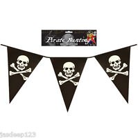12FT Pirate Flag Banner Bunting Party Skull and Crossbones Childrens Adult Theme