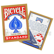 2 Decks x Bicycle STANDARD index playing cards Red or Blue Poker Magic tricks US