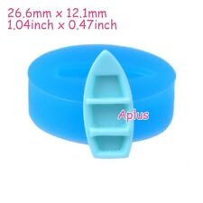 FFiEB423 26.6mm Canoe Boat Silicone Mold Sugarcraft Resin Fimo Clay Fake Food