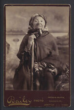 Princess Angeline eldest daughter Chief Seattle Rare Cabinet Photo by Bailey