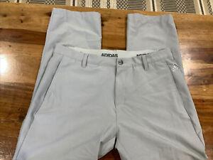 Adidas 3 Stripes Performance Golf ⛳ Pants Men's 35x28 Gray Elastic Waist.    451