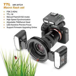 Meike MK-MT24S TTL Macro Twin Lite Flash w/ Trigger F Sony A7 A7R A7RII A9 A7III