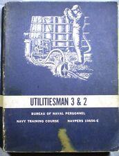 US NAVY Utilities Man Book Cement Asbestos Pipe Gaskets J-M Kennedy Valve 1967