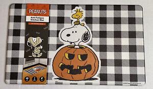"Peanuts Anti Fatigue Snoopy Kitchen Padded Mat 18""X30"" Halloween Jack-O-Lantern"