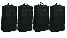 "4-Pack 36"" Black Rolling Wheeled Duffle Expandable Bag Spinner Suitcase Luggage"