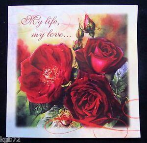Leanin Tree Valentine Card Valentine's Day Romance Love Roses Flowers V36