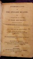 Introduction to the English Reader by Lindley Murray 1807 Leather RARE