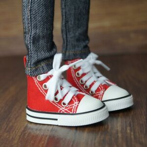 """BJD Red Canvas Sneakers Shoes For Female 1/3 24"""" BJD SD AOD AS VOLKS DK DZ DOLL"""