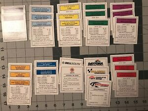 Nascar Edition Monopoly Money - Property - Draw Cards Replacement Pieces