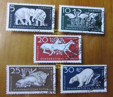 EBS East Germany DDR 1956 Berlin Zoo Michel 551/556 CTO