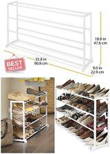 Shoe Rack Organizers White Resin Storage Home Woman Men 20 Pair Office Dorm Room