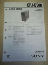 Sony Service Manual~CPJ-D500 LCD Projector~Original~Repair