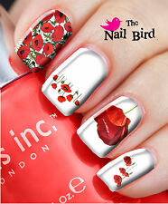 20 Mixed Set RED POPPIES Nail Waterslide Decals Nail Transfers Nail WRAPS