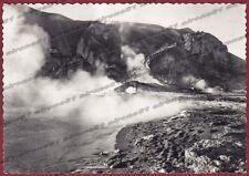 MESSINA LIPARI 06 VULCANO ISOLA - FUMAROLE Cartolina FOTOGRAFICA viaggiata 1958