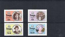 1985 TONGA QEII Mother 85th LIFE TIMES Stamps Set 4v Type B SG915b-918b REF:X450