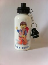 EMMIT  water bottle personalised name boy/girl Ideal gift school/football