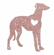 Greyhound Pink Glitter Decal 4 Car or Home 100% Donation 2 cure K9 Cancer