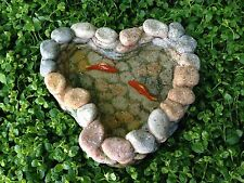 Miniature Dollhouse FAIRY GARDEN Accessories ~ Stone Look Koi Pond ~ NEW