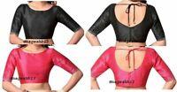 Readymade Saree Blouse, Dupion Silk Blouse,Designer sari Blouse,Elbow Sleeve Top