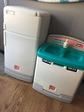 Vintage Step 2 Kitchen 2 Pc Set Refrigerator And Sink