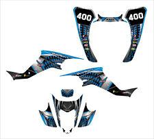 KFX 400 graphics Suzuki LTZ400 2003-2008 sticker kit #7777 Blue