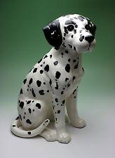 Dalmatian Sitting Statue Porcelain Dog Figurine 12 Inches High Large Size Japan