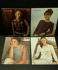 Lot of 4 JAEGER HANDKNIT PATTERN BOOKS - over 70 Patterns - Knitting Sweaters