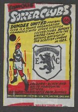 Anglo-American Gum Bell Boy wax wrapper Famous Soccer Clubs #66 - Dundee United